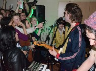 Palma Violets and Childhood play in a student house kitchen in Lenton